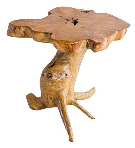 WINDALF Rustiek tafeltje LOVINA h: 45 cm bijzettafel uniek handwerk van wortelhout