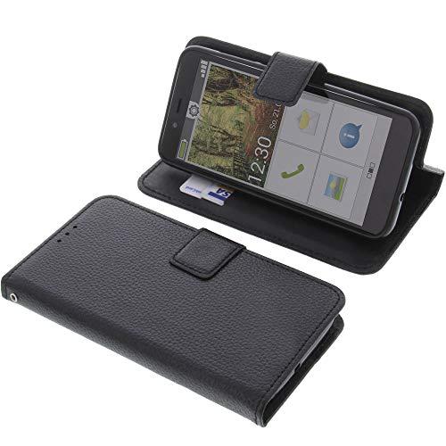 foto-kontor Tasche für Emporia Smart 3 Mini Book Style schwarz Schutz Hülle Buch