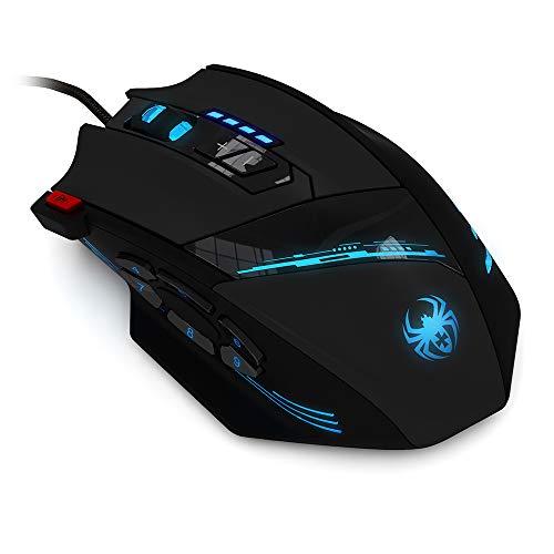 Docooler Gaming Mouse 12 programmeerbare toetsen computerspel muizen 4 instelbare LED-lampen voor speldeelnemers