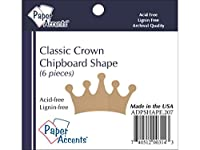 Chip Shape 6pc Classic Crown Natural