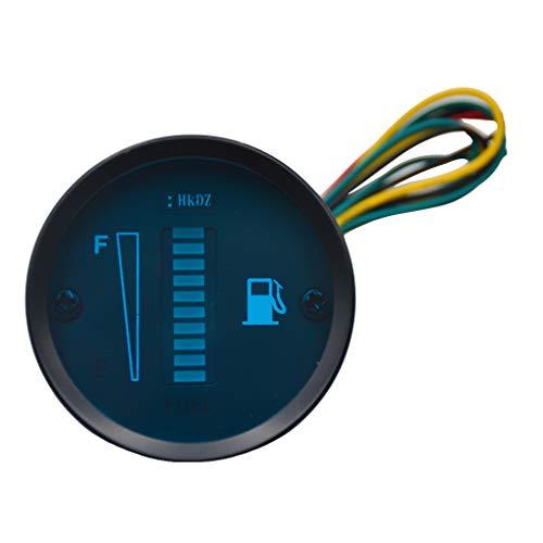ben-gi Auto-Tankanzeige LED-Tankfüllstandmessgerät Messgerät-Sensor 12V Motorrad Automobil-Aluminium-Legierung Car Styling