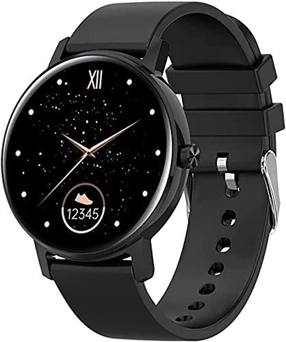 wyingj Pantalla HD Bluetooth llamada reloj inteligente señoras hombres y mujeres fitness reloj para Android Smart Watch Long Standby Time-H