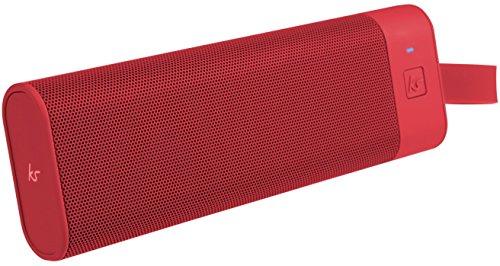 KitSound BoomBar+ Tragbarer Wireless Bluetooth Lautsprecher Soundsystem mit 3.5 Audioeingang Universal Kompatibel mit Apple und Android Smartphones, Tablets und MP3-Playern - Rot