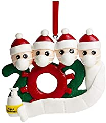 Material: resin, durable and lightweight. Will not deteriorate over time Personalized name with Christmas ornaments with blank hat and banner. You can use the oil pen to customize the family's unique Christmas decorations based on the name and text. ...