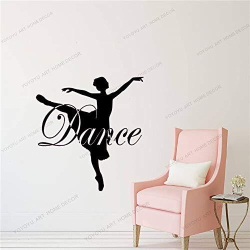 Decalcomania da Muro Personalizzata di Danza - Abito, Scegli Il Colore, Arredamento della Stanza delle Ragazze, Arredamento del Balletto, Decalcomania della Ballerina, Arredamento del Balletto
