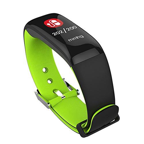SLH Mujer Pulsera de Actividad Reloj Lnteligente con Pulsómetro Reloj Fitness Podómetro Compatible iOS y Android Teléfono(Azul)