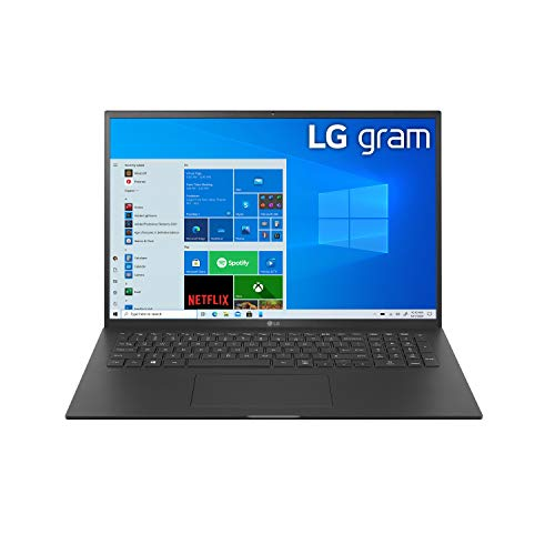 "LG Gram 17Z90P - 17"" WQXGA (2560x1600) Ultra-Lightweight Laptop, Intel evo with 11th gen CORE i7 1165G7 CPU , 16GB RAM, 2TB SSD, Alexa Built-in, 19.5 Hours Battery, Thunderbolt 4, Black - 2021"