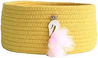 LCM Velvet Coton Coton Rope Hauteur Tissage Paniers De Stockage Bureau Toy Débuses Storages Panier Entreprise Pliable Gran...