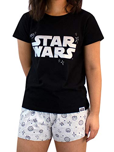 Star Wars Pijama para Mujer Guerra de Las Galaxias Negro Size Small