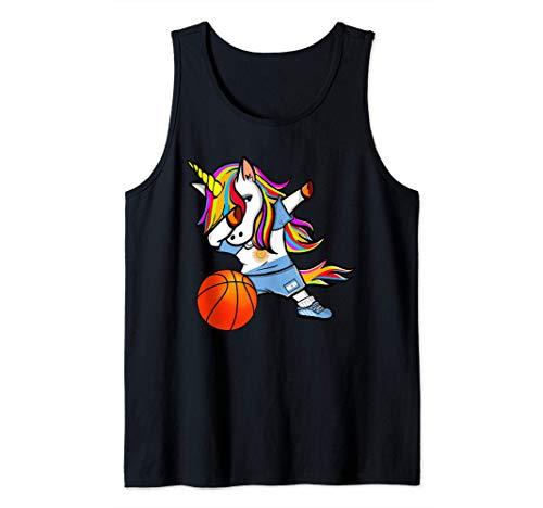 Dabbing Unicorn Baloncesto Argentina - Bandera Argentina Camiseta sin Mangas