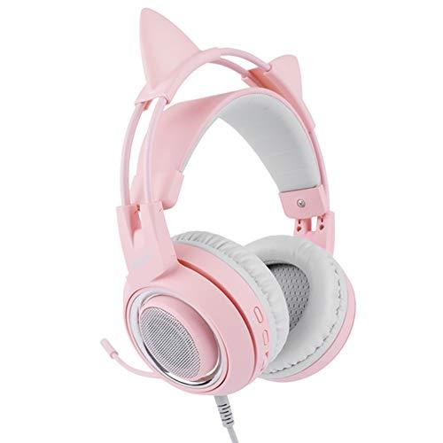 SZKQN Casque d'écoute, Casque d'écoute pour Casque de Jeu, Casque d'écoute de Jeu 7.1 Surround virtuel avec contrôle Audio pour PS4, PC, Xbox One, Ordinateur Portable Mac