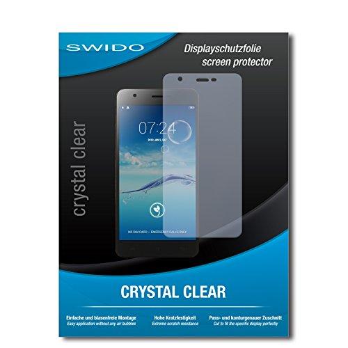 SWIDO Bildschirmschutz für Jiayu S3 Advanced [4 Stück] Kristall-Klar, Hoher Festigkeitgrad, Schutz vor Öl, Staub & Kratzer/Schutzfolie, Bildschirmschutzfolie, Panzerglas Folie