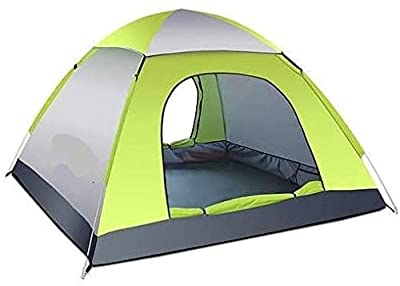 Instant Pop Up Camping Tent Waterproof 3-4 Person Camping Tent, Quick Set Up, Outdoor Hiking Backpacking Tent Shelter (D)