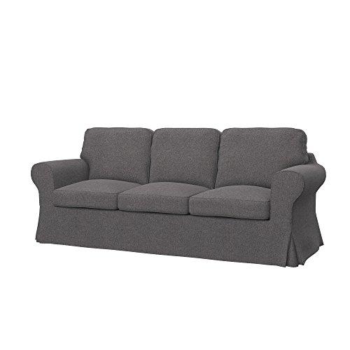Soferia - Ikea EKTORP Fodera per Divano Letto a 3 posti, Glam Grey
