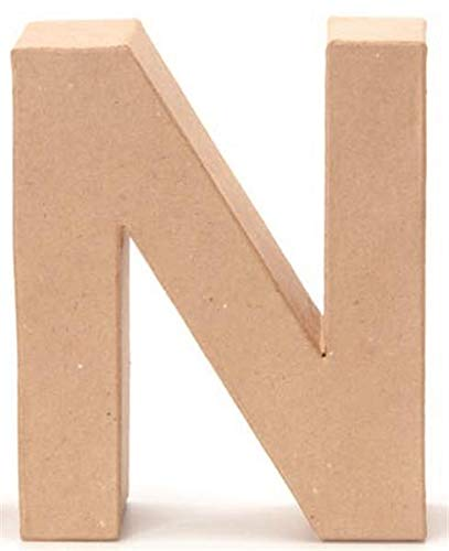 Papp-Buchstabe N 17,5x5,5cm