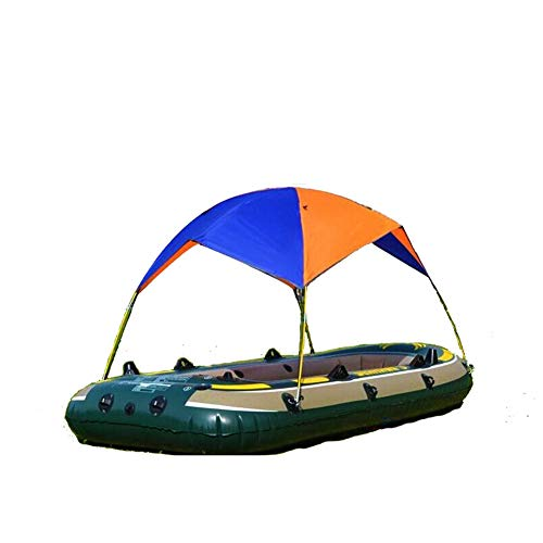 OUTEC Gonfiabile Kayak Awning Canopy 2/3/4 Persona Pieghevole Barca Tenda/Sailboat Awning Top Cover/Piogga Canopy Pesca Camping Sole Shade Shelter,2Person