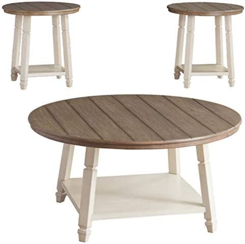 Best Signature Design by Ashley - Bolanbrook Farmhouse Occasional Coffee Table - Set of 3, Brown Wood/Ant