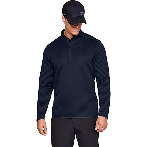 Under Armour Men's Long Sleeve Shirt UA Storm Daytona ½ Zip Maglia a Maniche Lunghe, Ady/Ady/White, XX-Large Uomo