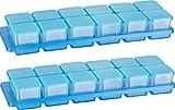 Kigima Mini-Tiefkühldose 0,03l rechteckig 3,5x3,5x3,3 cm 2x12er Set mit Halterung