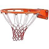 Angelay-Tian Canasta de Baloncesto, 45cm sólida del aro de Baloncesto de Tenis Exterior a Favor o en Patios Traseros