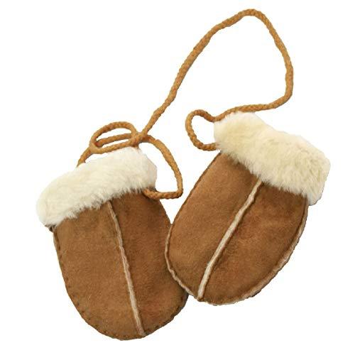 Eastern Counties Leather - Manopoline per neonati in pelle di pecora (Taglia unica) (Castagna )