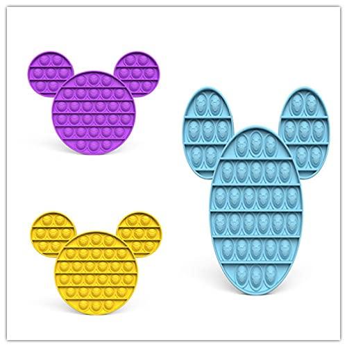 3 juegos de juguetes de punta de dedo de burbuja de gel de sílice, reductor de presión especial para el Autismo, herramientas sensoriales de extrusión para aliviar el estrés emocional de los niños
