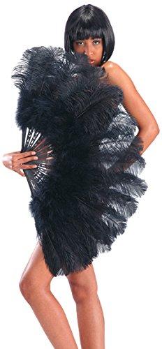 Carnival 8561 - Juguetes ventiladores gigantes de plumas, 100 cm, negro