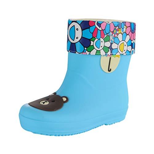Tookang Bebé Niño Niña Ligero Botas de Nieve Zapatos de Agua de Lluvia de Goma Bota de Lluvia Calzado