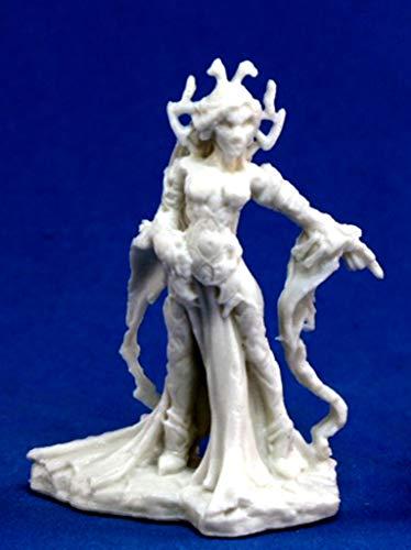 1 x SHAERESS Reine ELF Noir - Reaper Bones Figurine pour Jeux de Roles Plateau - 77066