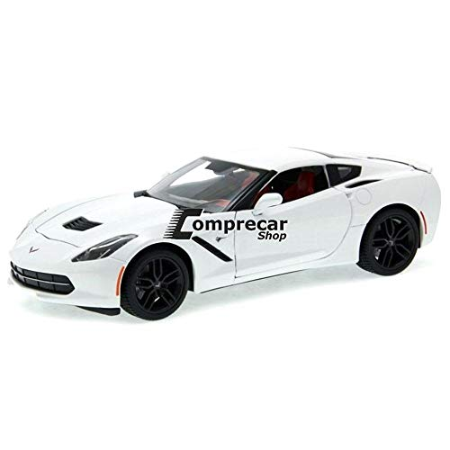 Maisto 2014 Chevrolet Corvette Stingray Z51 1/18 Scale Diecast Model Car White