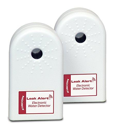 ZirconLeakAlertWaterLeakDetector & Flood Sensor Alarm/ WaterLeakSensor with DualLeakAlarms 90Db Audio/ Battery Powered (2 Pack) Batteries Not Included , Audio Only - 68320