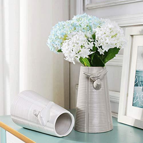 Vase en céramique décoration Salon Armoire à vin à Fleurs créatif HUXIUPING (Color : White)