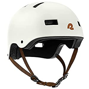 Retrospec Dakota Bicycle / Skateboard Helmet for Adults - Commuter, Bike, Skate, Scooter, Longboard & Incline Skating - Impact Resistant & Premium Ventilation- Matte Eggshell