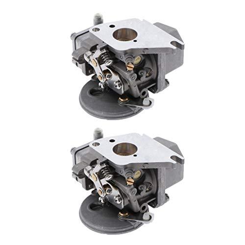 Amuzocity Carburador de Barco de 2 Piezas, Carburador de Repuesto de Metal para Yamaha 2 Tiempos 4/5