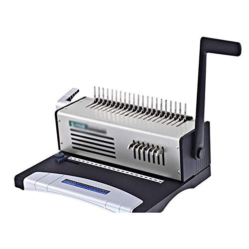 Adesign Del Tipo Peine Delantal Clip de Gaza Bead Encuadernación Máquina obligatoria financiera Máquina Clip de Gaza Punzonadora Documento de Texto licitación del Contrato Vinculante máquina