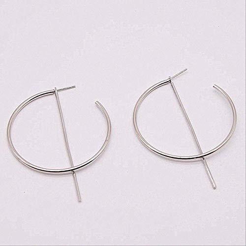 Ear Pins Earring voor vrouwen Simpleplated geometrische grote ronde oorbellen Big Hollow Drop Oorbellene061yinse