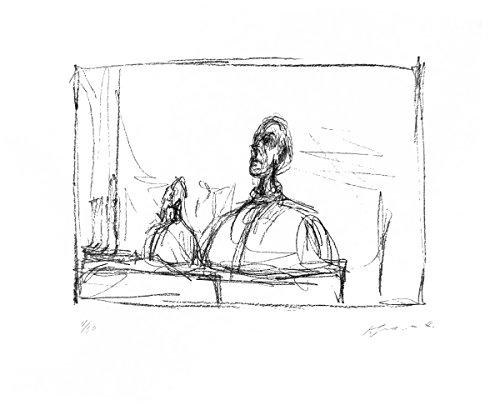 "Buste by Alberto Giacometti 25.5""x31.5"" Art Print Poster"