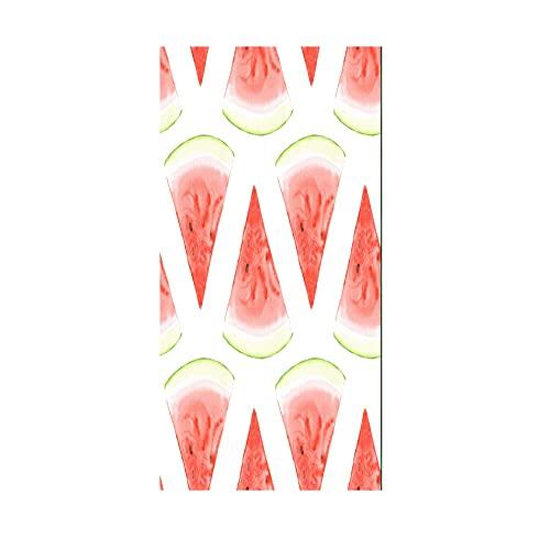 Verano Sandía Rosa Blanco Microfiber Toalla de Playa, Toalla de Secado rápido, Toalla de Viaje, Alfombra de Playa Esterilla Playa, Manta de Playa Deportes Viaje Gimnasio (Blanco 3, 70x150cm)