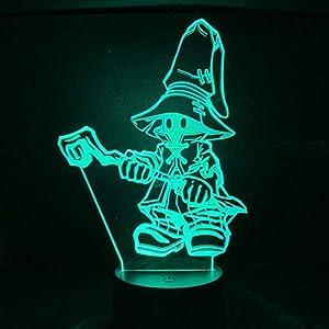 3D Night Light Final Fantasy Vivi Ornitier Figure Kids Night Light Bedroom Lamp Christmas Birthday Gifts Home Party Supply Decoration HYKK