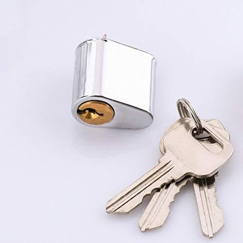 Núcleo de cerradura de puerta cortafuego, núcleo de cerradura de puerta de seguridad, cerradura de cerradura de puerta, núcleo de cerradura corta-núcleo de cobre independiente 3 llaves
