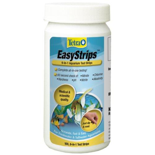 Tetra EasyStrips 6-In-1 aquarium Test Strips, Water Testing,...