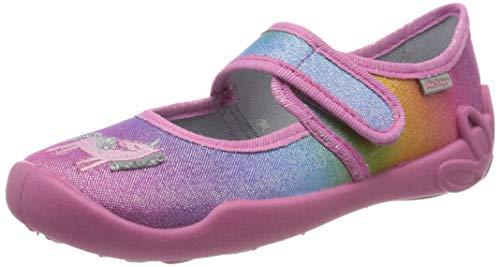Richter Kinderschuhe Mädchen Niedrige Hausschuhe, Pink (Fuchsia (Regenbogen) 3500), 28 EU