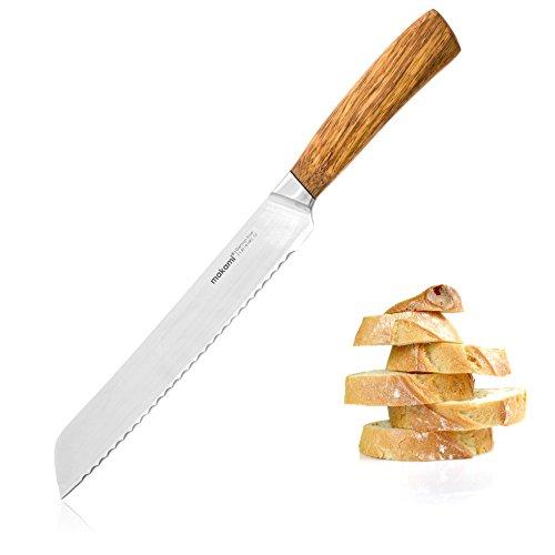 makami Kona Brotmesser mit Griff aus edlem Palisanderholz in Geschenkverpackung