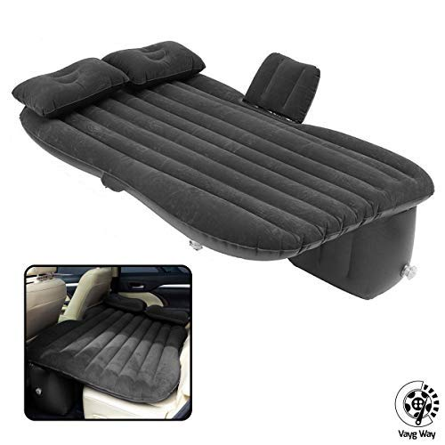 Car and MPV Silver Gray Qiilu Car Inflatable Air Mattress Back Seat Pump Portable Travel Camping Sleep Bed Cushion with Electric Air Pump for Universal SUV