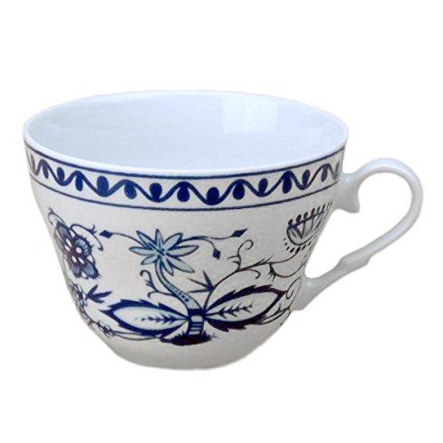 Zwiebelmuster Triptis Kaffeetasse Kaffeeobere glatter Rand, Thüringer Porzellan, ca. 0.18 l, 1 Stück