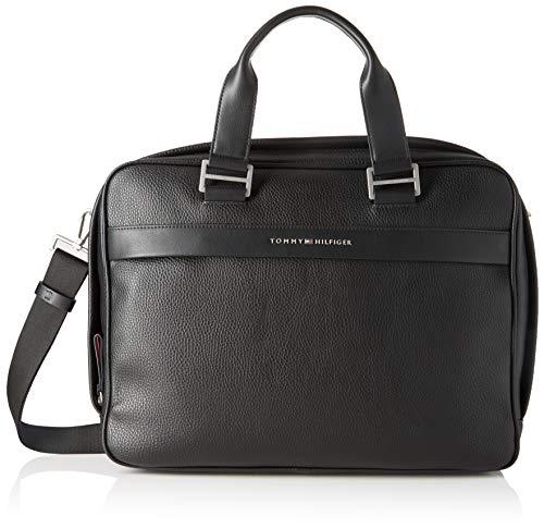 Tommy Hilfiger Herren Th Business Computer Bag Geldbörse, Schwarz (Black), 1x1x1 cm