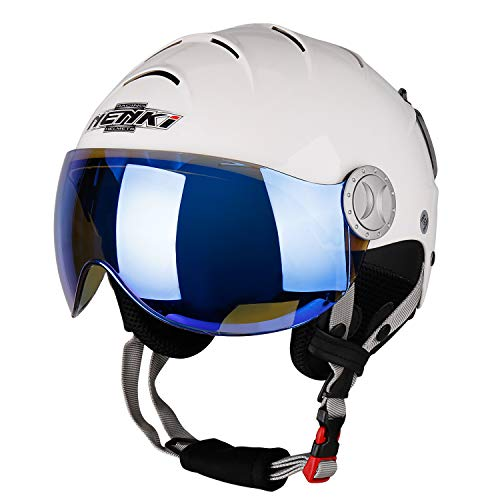 NENKI Ski Helmet with Visor Snow Sport Skiing Snowboard Helmets for Men Women