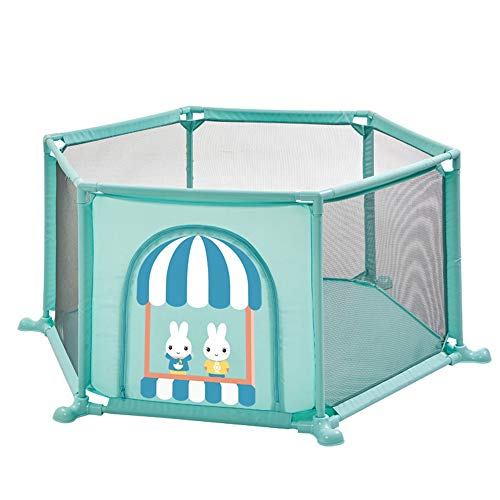Barrière de lit HUO Infant Children's Home Play Fence Indoor Playground Toddler Fence Safety Fence Home Simple Playground (Couleur : Bleu)