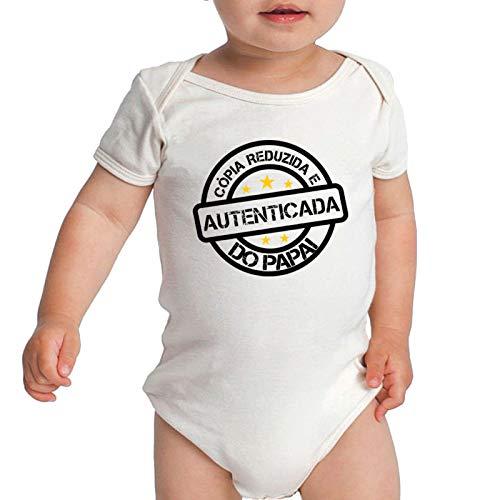 Body Criativa Urbana Bebê Frases Engraçadas Cópia do Papai Pai Branco G