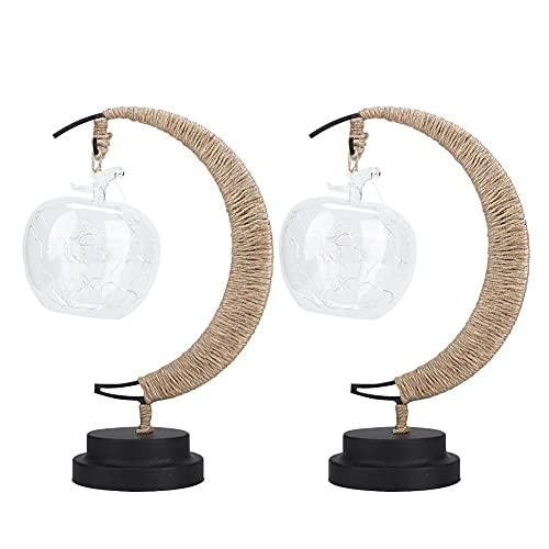 Alambre de Cobre 20led Apple Linternas Cuerda de cáñamo Hecha a Mano Luz de Noche de Hierro para Dormitorio Sala de Estar